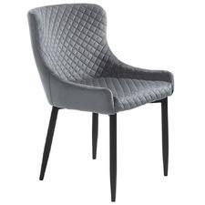 Grey Sharmin Velvet Dining Chair
