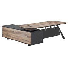 Caiden Electric Lift Executive Desk with Return