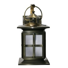 Solid Brass Anodize Wall Lantern / Downlight in Antique Brass