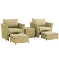 2 Seater Nolin Balcony Set with Ottomans