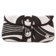 Swirl Wrap-around Clutch Bag in Black