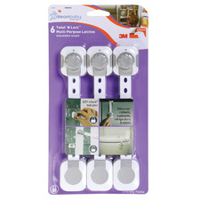 White & Grey Multi-Purpose Latches (Set of 6)