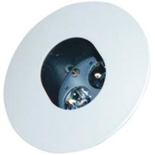 Recessed Keyhole Downlight in White / Black