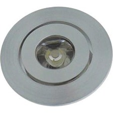 Round Under Cabinet Recessed Light in Aluminium