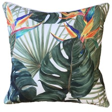 Bird of Paradise Printed Outdoor Cushion