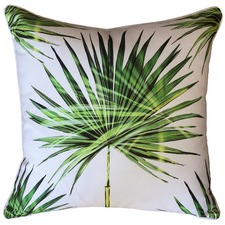 Large Fan Palm Print Outdoor Cushion