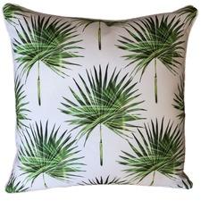 Small Fan Palm Print Outdoor Cushion