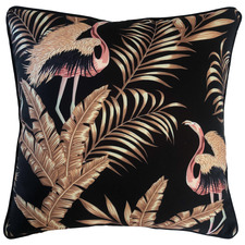 Black Bellagio Bird Outdoor Cushion