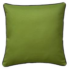 Green Fern Plain Black Piping Outdoor Cushion