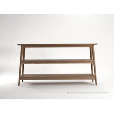 Danish Modern Console with Shelves