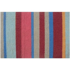 Beach Stripes Red Rug