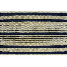 Black/Natural Loop Strip Rug