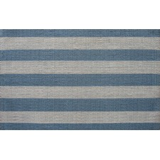 Blue/Cream Stripe Rug