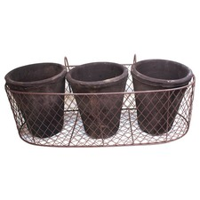 Wire Holder with 3 Pots