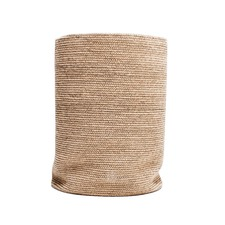 Jute Laundry Basket Natural with Black Stitch
