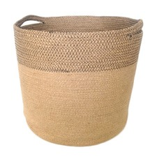 Jute Baskets in Natural & Black Stitch (Set of 3)
