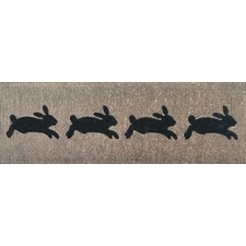 French Rabbits Doormat