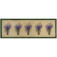Purple & Green Long Lavender Doormat