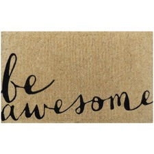 Black Be Awesome Doormat