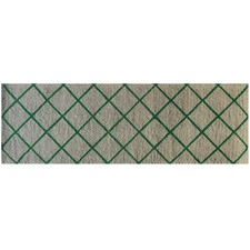 Green Trellis Long Coir Doormat