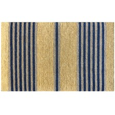 Nautical Stripe Coir Doormat