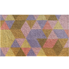 Pixel Triangles Coir Doormat