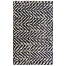 Black & Natural Hand Woven Jute Rug