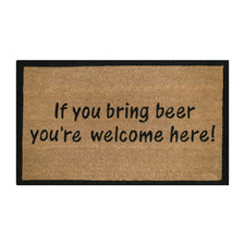 Bring Beer Outdoor Doormat