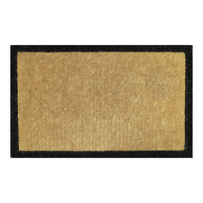 Black Bordered Premium Hand-Loomed Coir Outdoor Doormat