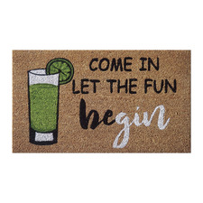 Let The Fun Begin Outdoor Doormat
