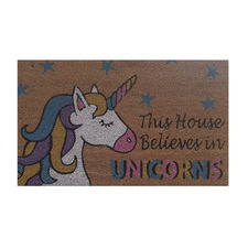 Magical Unicorn Outdoor Doormat