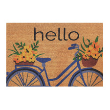 Flower Bicycle Outdoor Doormat