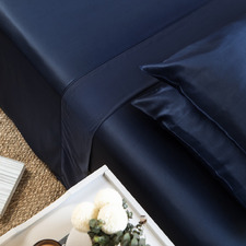 Blue Nights Bamboo Lyocell Fitted Sheet