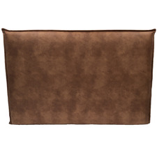 Tan Wiegand Faux Leather French Seam Bedhead