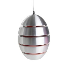 Chrome Collaroy 1 Light Aluminum Pendant