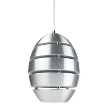 White Collaroy 1 Light Metal Pendant