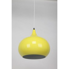 Luminous Yellow Sellicks 1 Light Metal Pendant