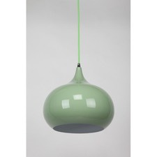 Mini Kirke 1 Light Pendant in Light Green