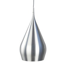 Chrome Werri 1 Light Aluminium Pendant