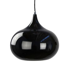 Black Kipr 1 Light Aluminium Pendant