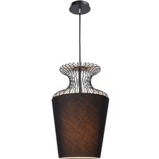 Black Manly 1 Light Metal Pendant