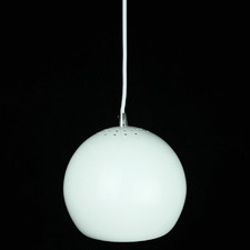 White Paradise 1 Light Aluminium Pendant