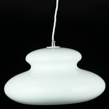 White Altona 1 Light Aluminium Pendant
