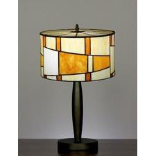 Tiffany Drum Shade Geometric Style Table Lamp