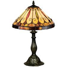 Tiffany Leaf Table Lamp in Zinc Alloy