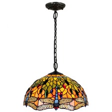 Tiffany Dragonfly 2 Light Pendant Light