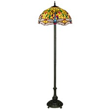 Tiffany Dragonfly 2 Light Floor Lamp