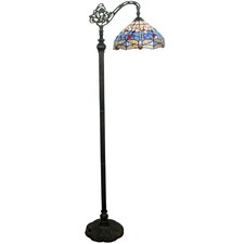Blue Dragonfly Tiffany-Style Floor Lamp