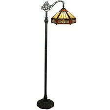 Hexagonal Tiffany-Style Floor Lamp