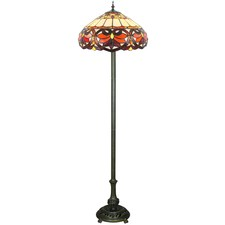 Red Victorian Tiffany-Style Floor Lamp